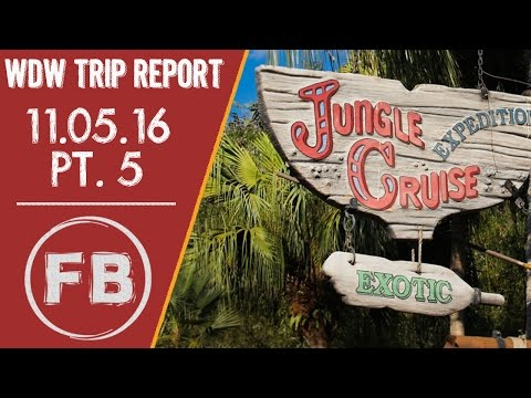 A...jungle cruise experience and a gorgeous ride on the Monorail   11-05-16 Pt. 5