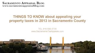 Things to know about appealing property taxes (tips from Sacramento home appraiser)
