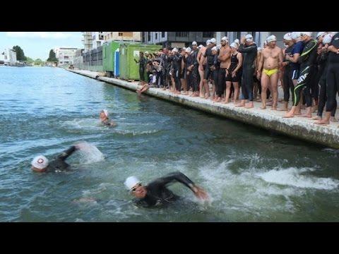 Paris: une course de 5 km dans les eaux du canal de l'Ourcq