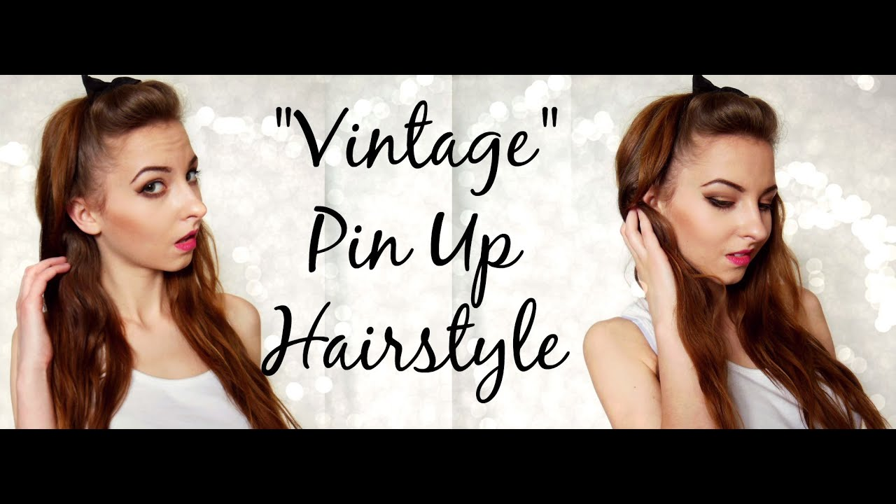 vintage pin up hair styles simple vintage quot pin up quot hairstyle for hair 5047
