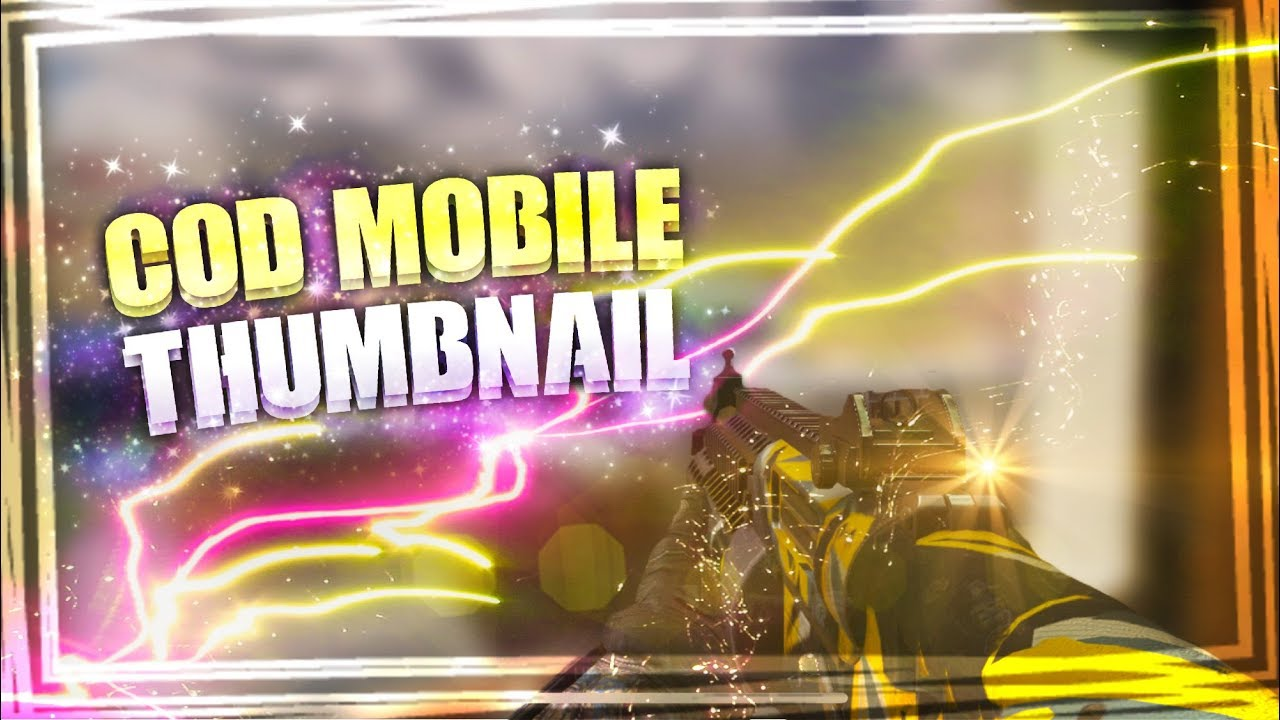 How To Make Cod Mobile Thumbnails Youtube