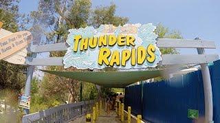 [4k] Thunder Rapids - Raging Waters Water Park (San Dimas, California)