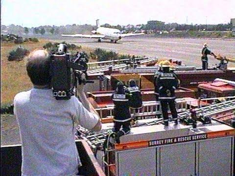 BAC 1-11 at Bristol and then the last flight landing at Brooklands