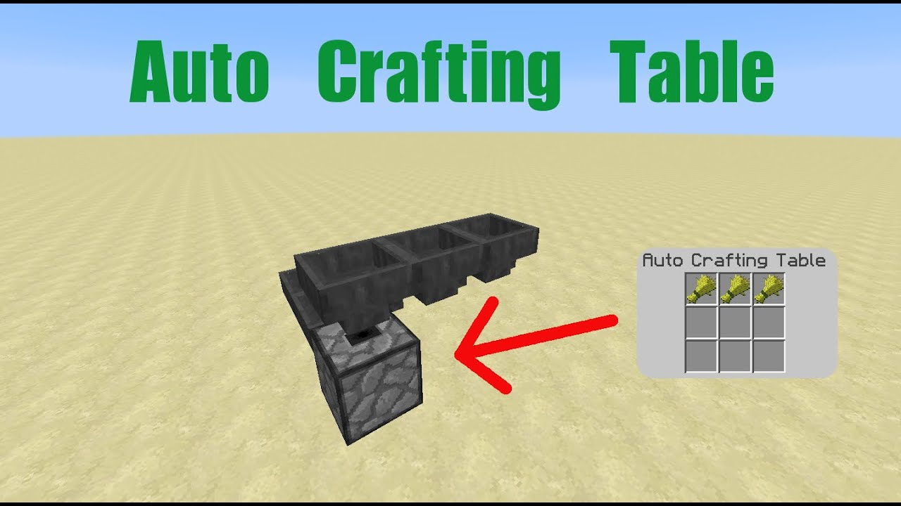 How To Make A Crafting Station In Minecraft