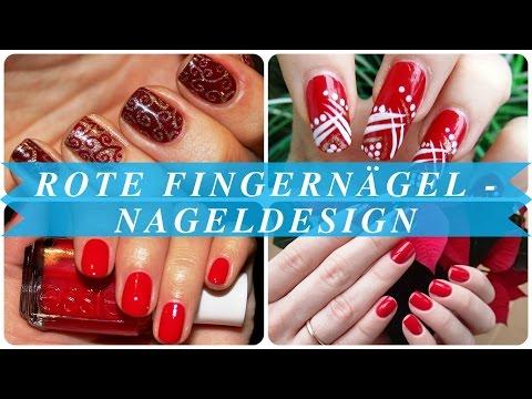 Rote fingernägel - nageldesign