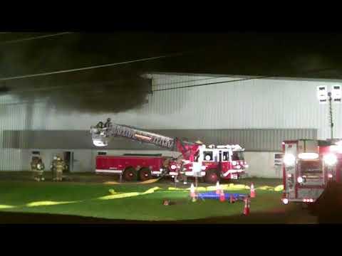 Major Fire At Massena Industrial Park