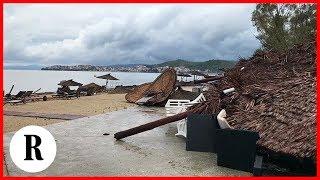 Maltempo Grecia, tornado e grandine sulla penisola Calcidica: resort turistico devastato