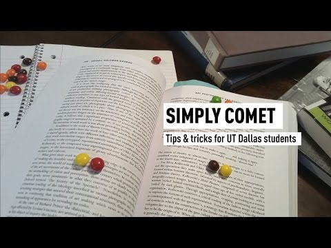Simply Comet: Tips & tricks for UT Dallas students [Study tips]
