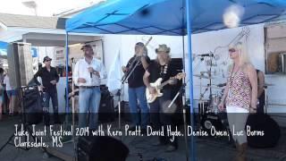 Juke Joint Festival - Kern Pratt, David Hyde, Denise Owen, Luc Borms - Clarksdale, MS
