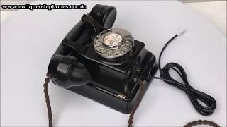 Siemens Bakelite wall telephone fully working antique telephone
