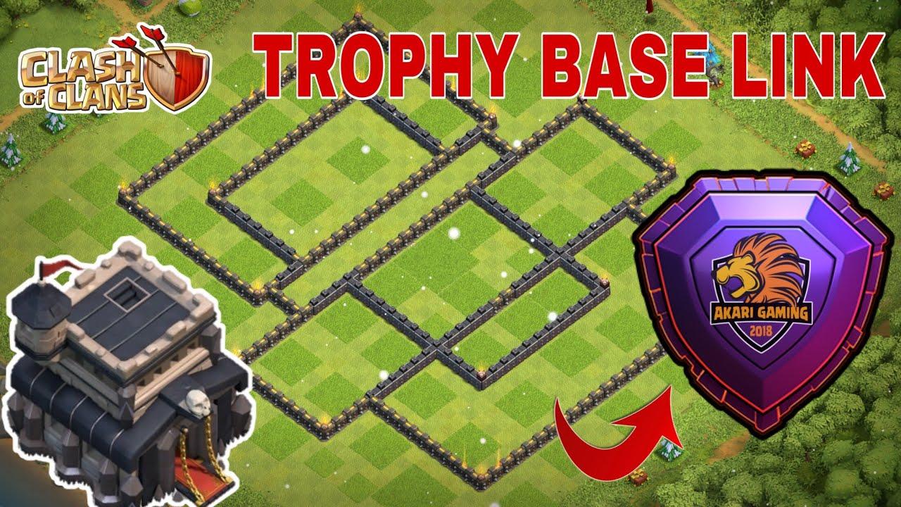 MẪU BASE TH9 CHỐNG 3 SAO LEO RANK HUYỀN THOẠI Clash of clans   Best Base Link   Akari Gaming