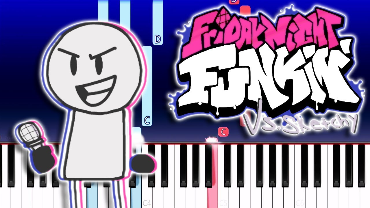 Friday Night Funkin' - V.S. Sketchy - Sketched out (Piano Tutorial)