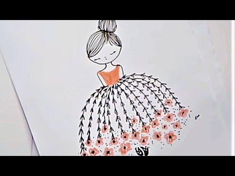 رسم بنت كيوت سهل تعليم الرسم للمبتدئين خطوه بخطوه Youtube