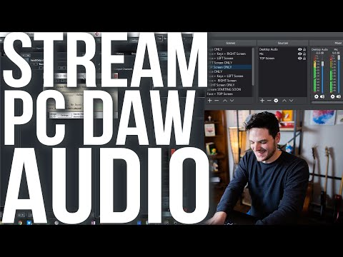How To Live Stream DAW Audio For YouTube / Twitch / Facebook? (Read Description For Step-by-Step!)