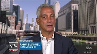 Rahm Emanuel Reacts to Federal Agents Potentially Descending on Chicago  | The View