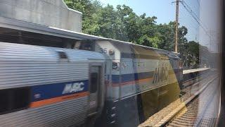 MARC HD 60fps: Riding Bombardier MultiLevel on Train 520 (Washington Union Station to Halethorpe)