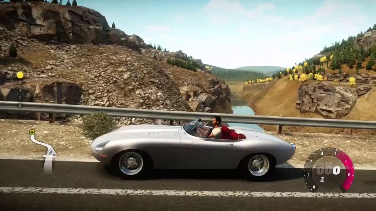 Driving the Eagle Speedster in the mountain road - Forza Horizon ...