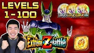 CLIMBING TO LEVEL 100! PERFECT CELL RAID BOSS EXTREME Z-BATTLE EVENT   Dragon Ball Z Dokkan Battle