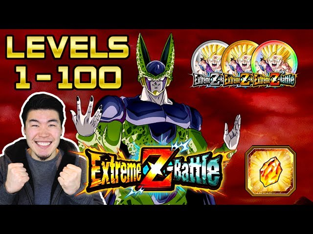 CLIMBING TO LEVEL 100! PERFECT CELL RAID BOSS EXTREME Z-BATTLE EVENT | Dragon Ball Z Dokkan Battle