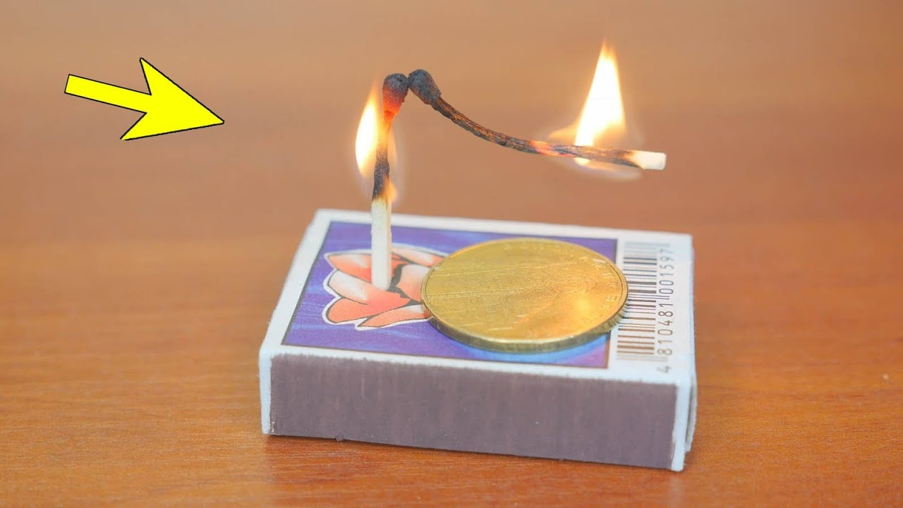 Trick zündholz Die Zauberei