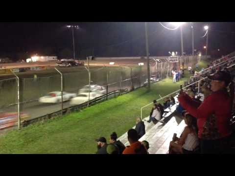 Factory Stock Feature part 1 Superbowl Speedway 3-18-17