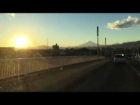 Nice view in Japan!! Beautiful sunset & Mt Fuji with FM Yokohama