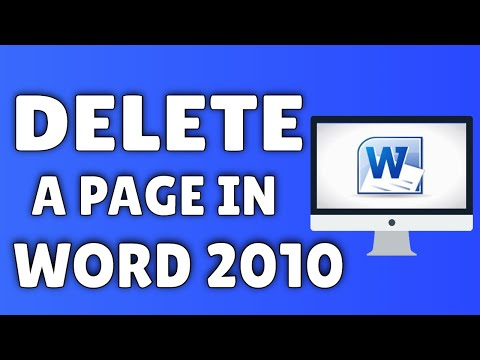 How to delete a page in word 2010 youtube how to delete a page in word 2010 ccuart Images