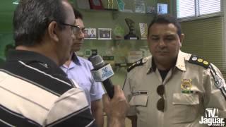 Nilson Freitas e Cel  Izaias falam, da segurança pública de Palhano