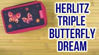 Розпакування Herlitz Triple Butterfly Dream 31 предмет 3 відділення Синій 11438710