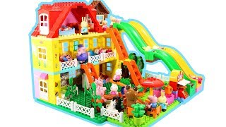 Peppa Pig House Construction Sets With Water Slide - Lego Duplo Creations Toys For Kids #5