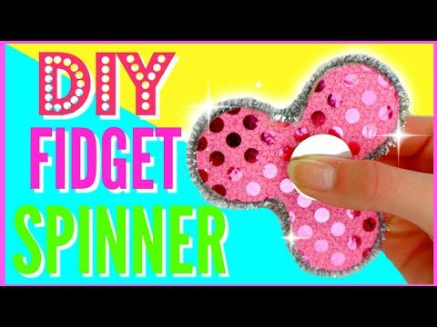 DIY FIDGET SPINNER WITHOUT BEARINGS - How To Make A Fidget Spinner ! EASY!