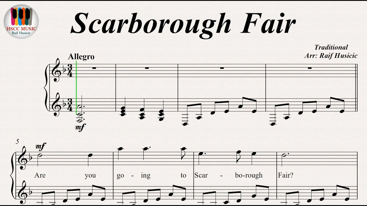 Scarborough Fair sheet music for choir (SATB soprano alto tenor bass)