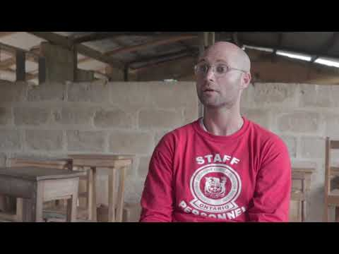 Canadian sharing his volunteer experience in Ghana, West Africa