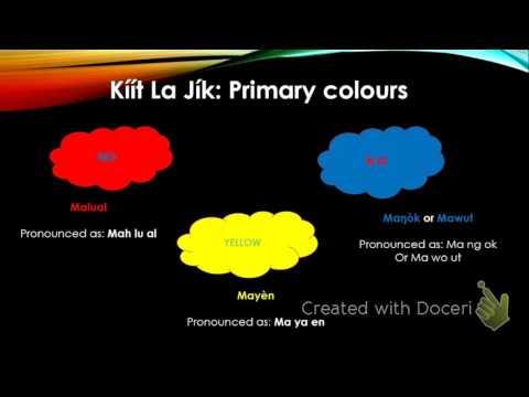 Colours in Dinka