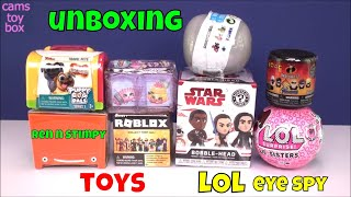 Unboxing Toys Surprises LOL Series 4 EYE SPY Roblox Incredibles 2 Mario Kart Puppy Dog Pals