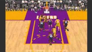 NBA Live 2000 Western Conference Playoffs 1st Round Game 1 Houston Rockets vs Los Angeles Lakers