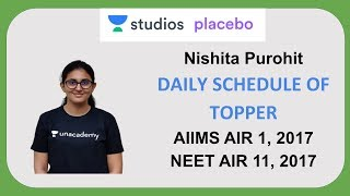 Daily Schedule of Topper | Nishita Purohit AIIMS AIR - 1 | NEET  AIR - 11