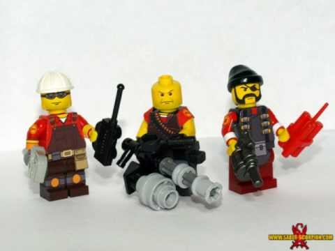 Lego Team Fortress 2 Minifigures Youtube