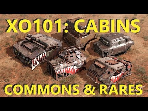 Crossout 101 - EVERYTHING You Need To Know About COMMON And RARE Cabins [Part 1]