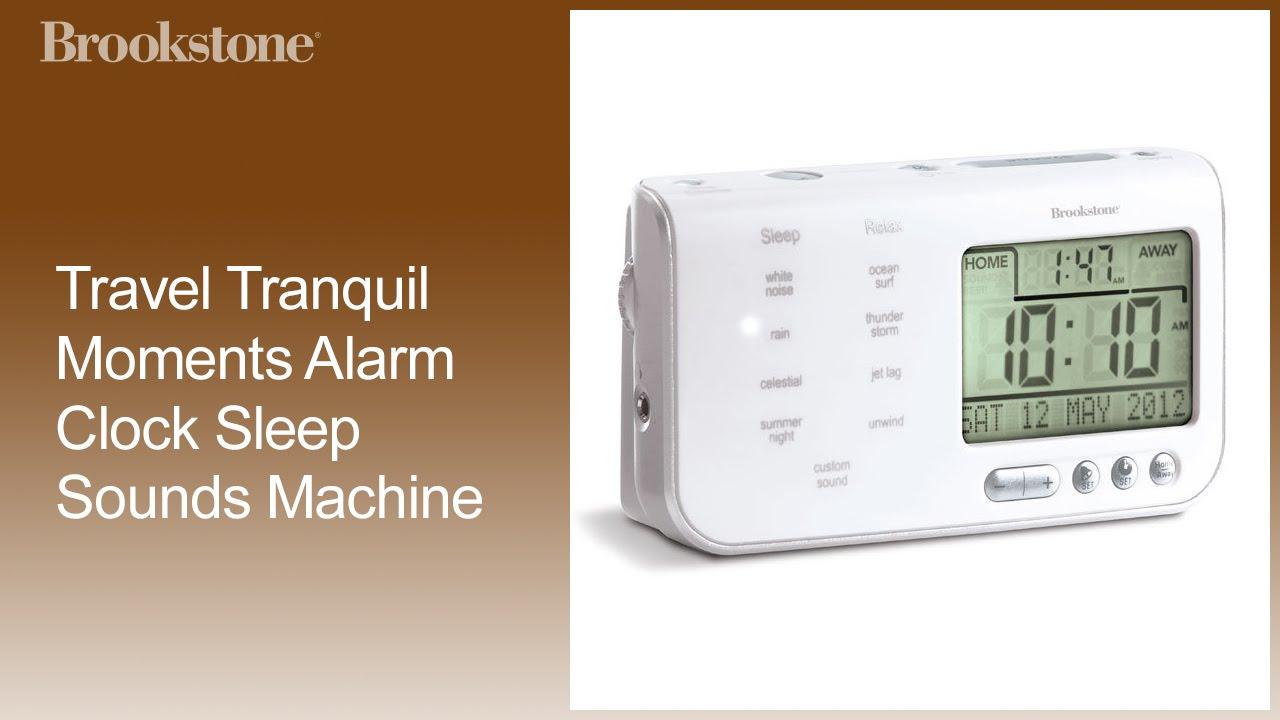 travel alarm clock with sound machine