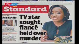 TV star sought, fiance held over murder | Press Review