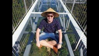 Китай.Хайнань.Парк Янода.Стеклянный мост.Holidays in China.Yanoda Park.Glass Bridge