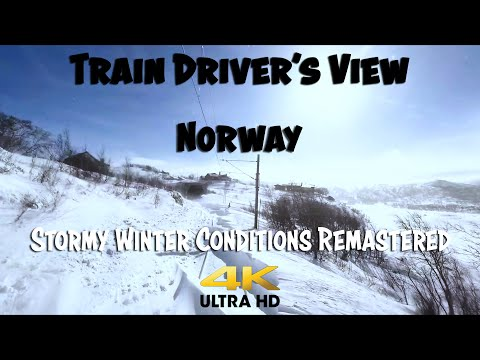 TRAIN DRIVER'S VIEW: Harrowing winter conditions on the mountain pass