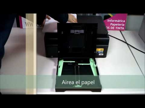 Cómo airear y poner el papel en la impresora correctamente.