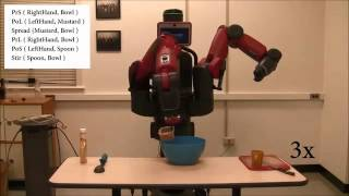 UMD robot that learns to cook by watching YouTube video