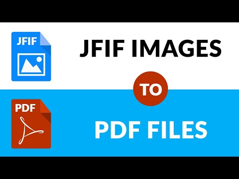 How To Convert Multiple JFIF To PDF Documents
