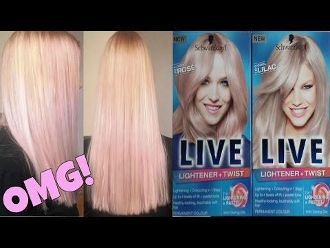 Rose And Lilac Hair Schwarzkopf Live Hair Dye Review