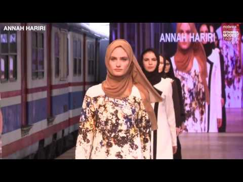 Catwalk at Istanbul Modest Fashion Week hosted by Modanisa. Annah Hariri 2016