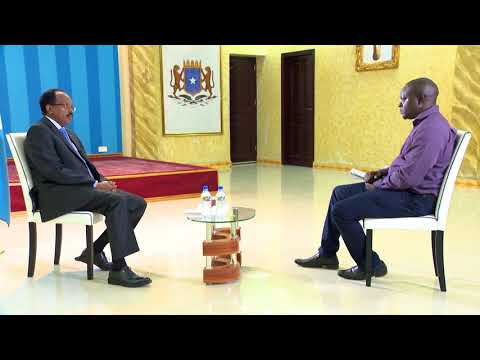 SOMALIA PRESIDENT  INTERVIEW WITH BBC