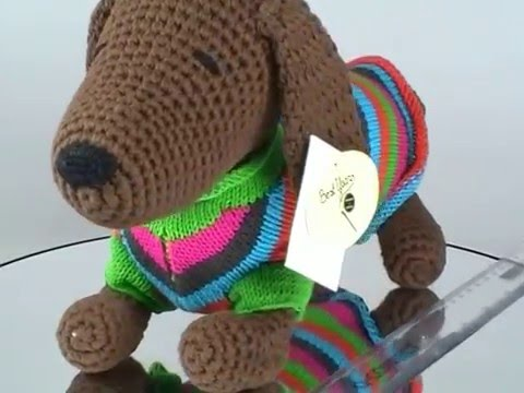 Knitted Sausage Dog In Jumper Youtube